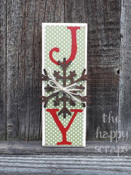 JOY Block with Snowflake