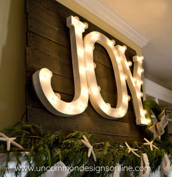 Joy Letters in Light