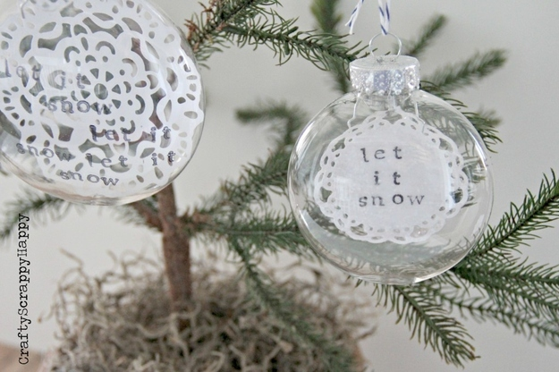 Let it Snow Doily Ornament