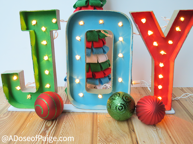 Lighted Joy Marquee