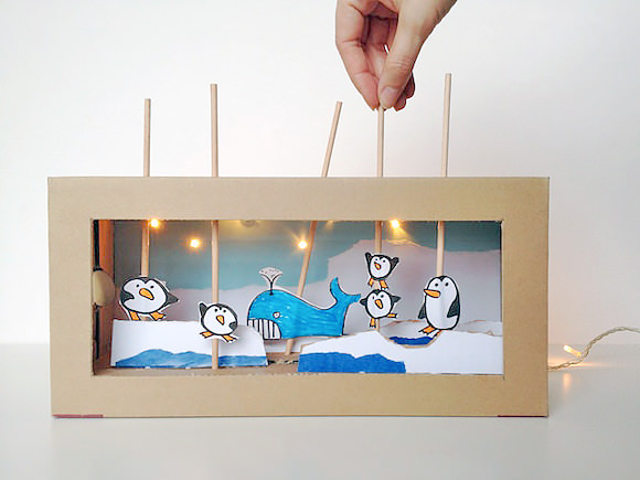 Make A Light up Shoebox Theater