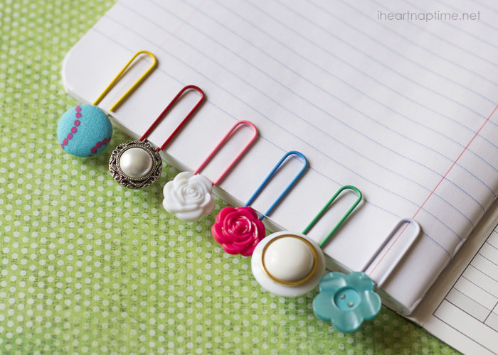 Make Some Cute Button Bookmarks