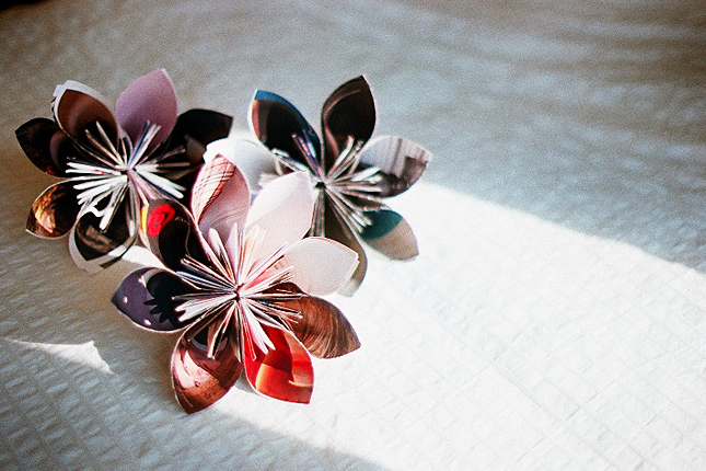 Make a Recycled Magazine Flower