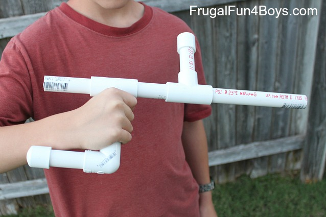 Make a marshmallow blow gun out of PVC pipe