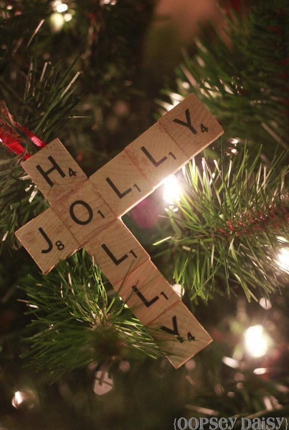 Make a scrabble tile ornaments