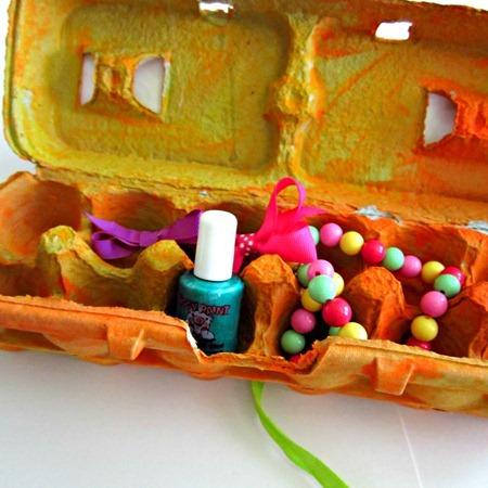 Make an Egg Carton Treasure Box