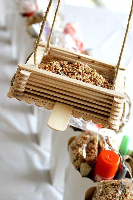Make cute little bird feeder