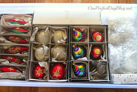 make dividers for ornaments and fragile items to keep your decorations nice and neat - Organizing Christmas Decorations