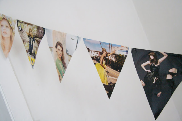 Make party decoration out of old fashion magazines