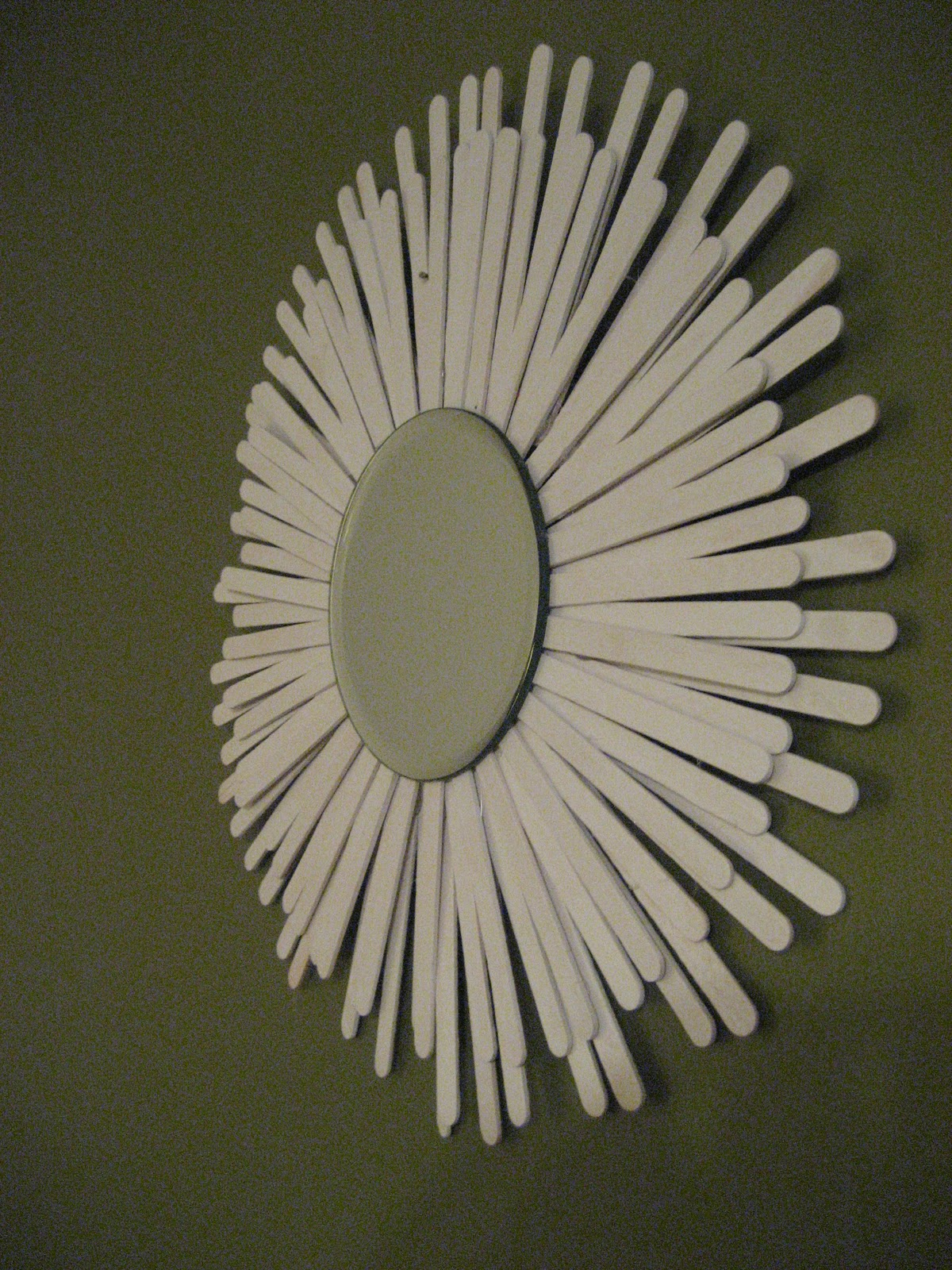 Make this super stylish starburst mirror that will dress up any room in your home