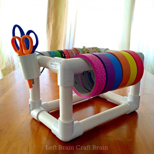 Make your own tape dispenser and never lose your tape again