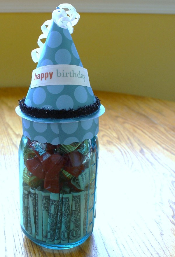 Mason Jar Money Gift Idea