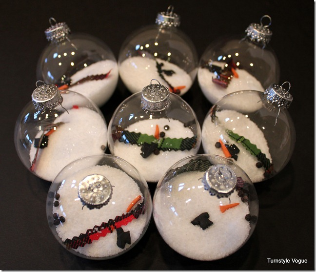 30 creative ideas for decorating and filling clear glass for How to design a christmas ornament