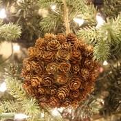 Mini Pine Cone Kissing Ball Ornament