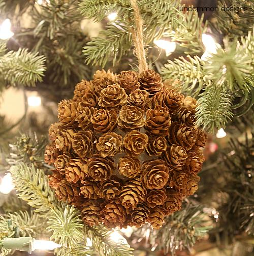 Mini Pine Cone Kissing Ball Ornament