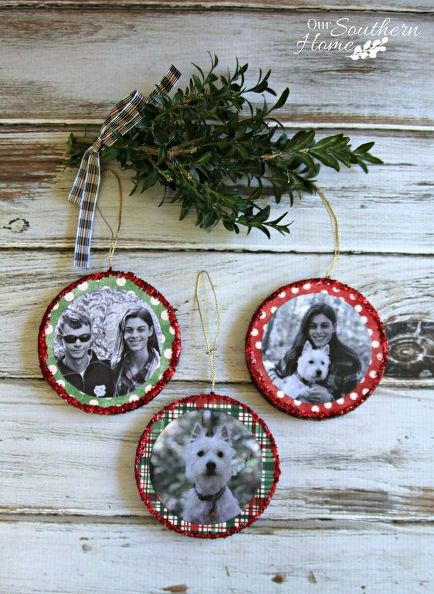 Mod Podge Photo Ornaments