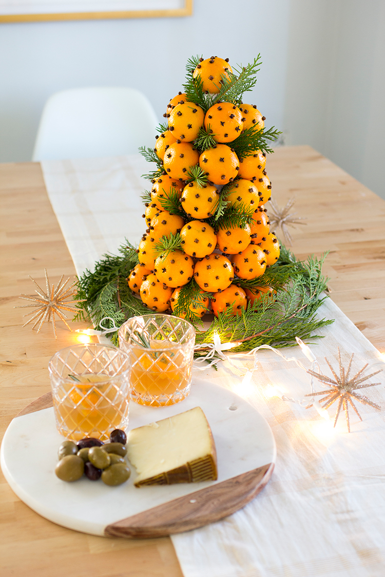 Orange and Clove Christmas Topiary