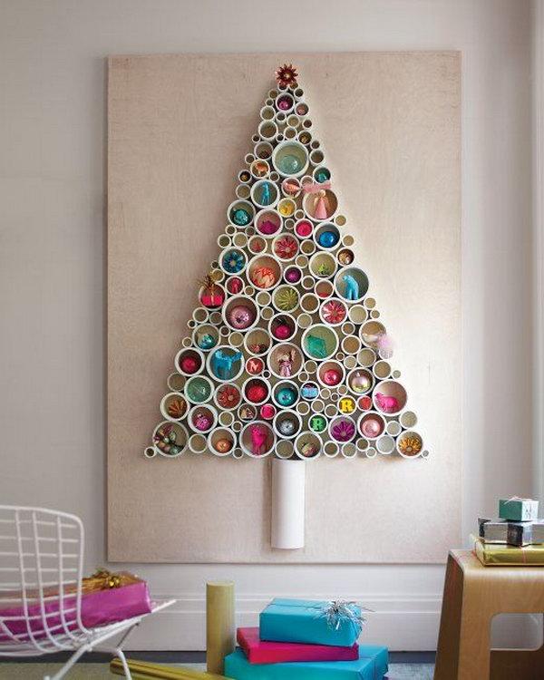 PVC Pipe Tree as Wall Art