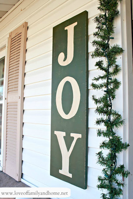"Painted ""Joy"" Sign"
