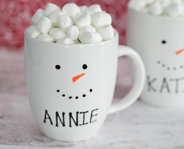 Personalized Snowman Mugs