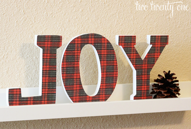 Plaid JOY Letters