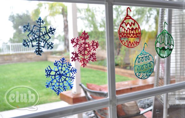 Puffy Paint Window Decorations