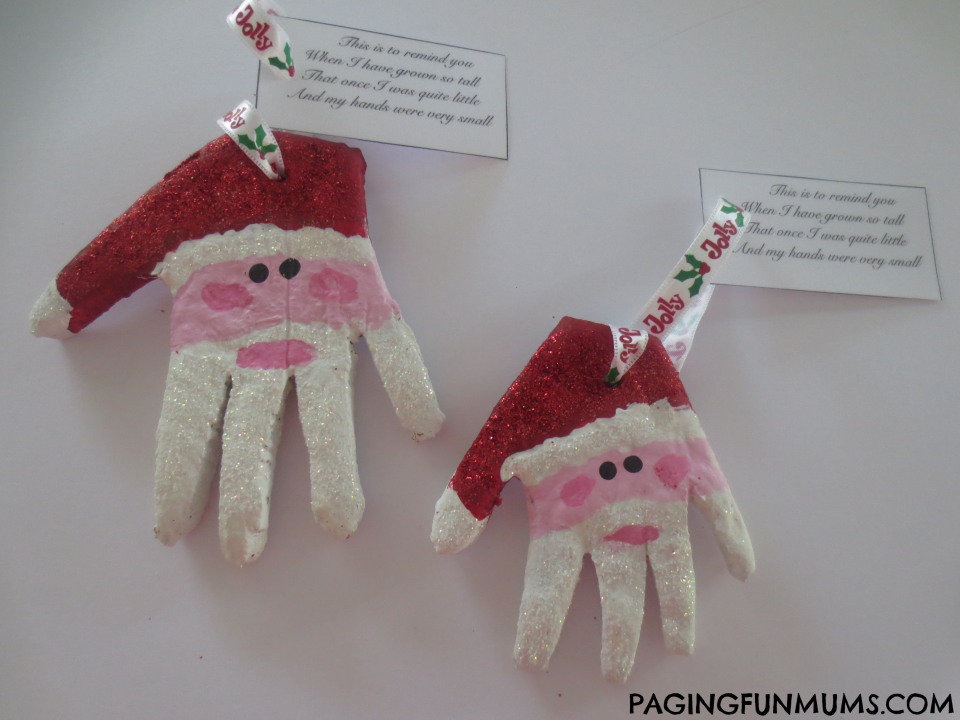 Santa Hands Christmas Ornaments
