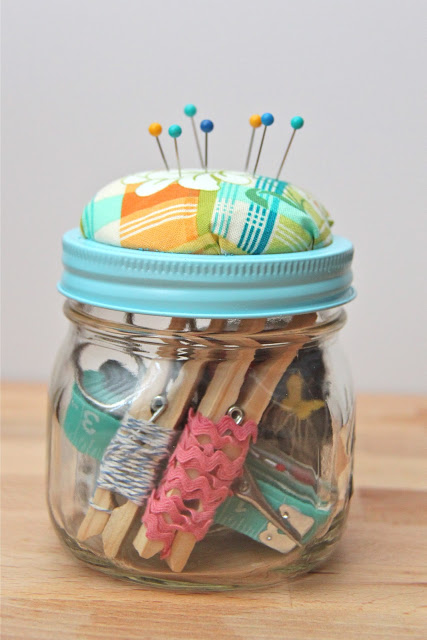 Sewing Kit Gift In A Jar