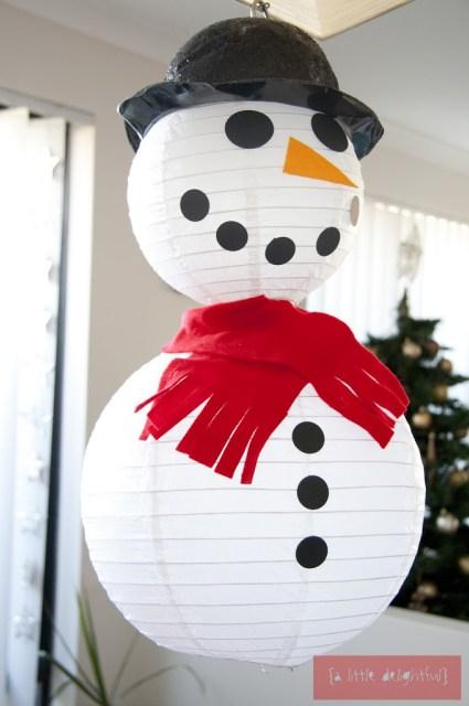 Snowman from Lanterns