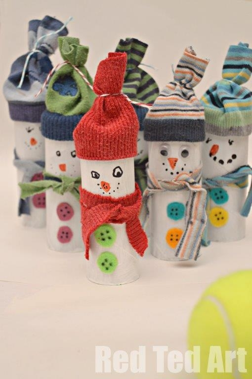 20 christmas decorations made from toilet paper rolls Toilet paper roll centerpieces