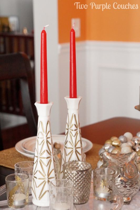 Turn Bud Vases into Candlestick Holders