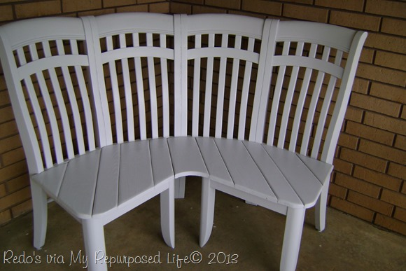 Turn Four Average Chairs Into A Corner Bench