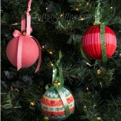 Turn old sweaters into cute and cozy ornaments