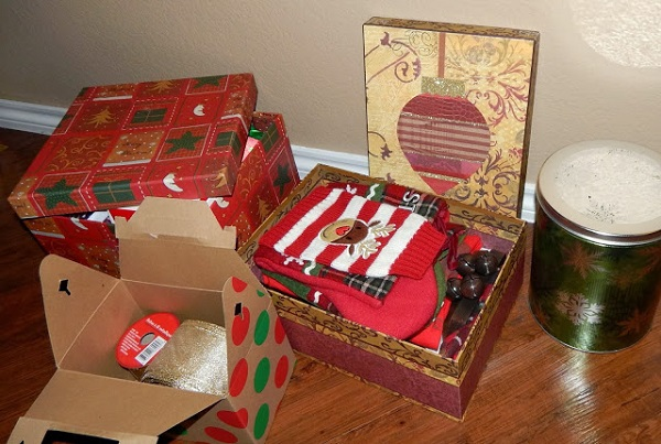 Upcycle gift boxes and tins as storage containers
