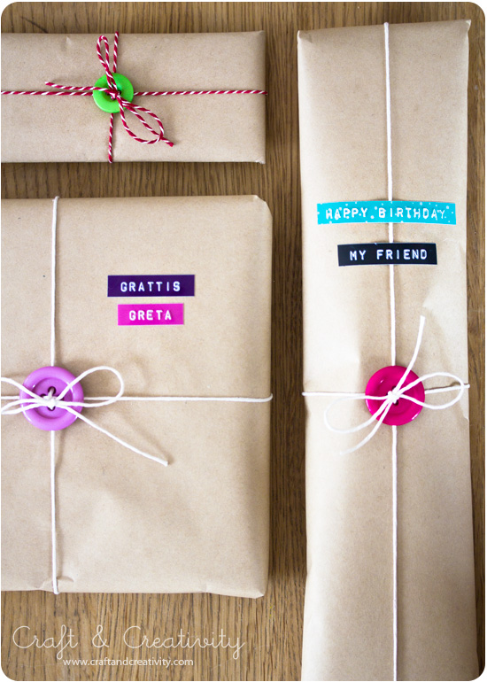 Use Your Extra Buttons to Wrap up Your Gifts