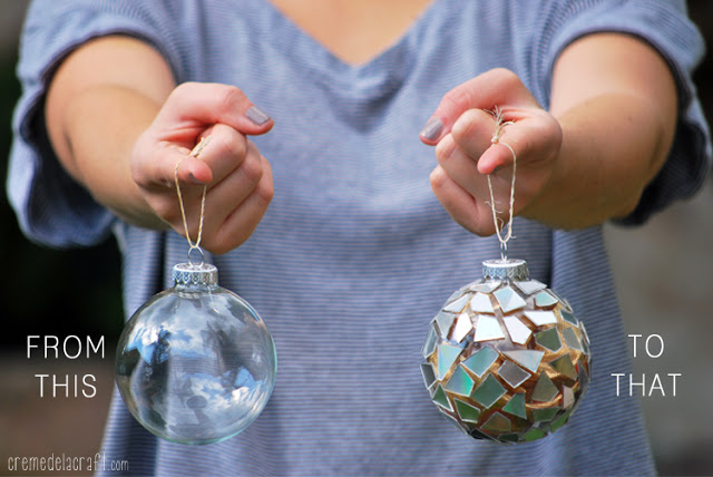 Use old CD's to create beautiful CD Mosiac Baubles