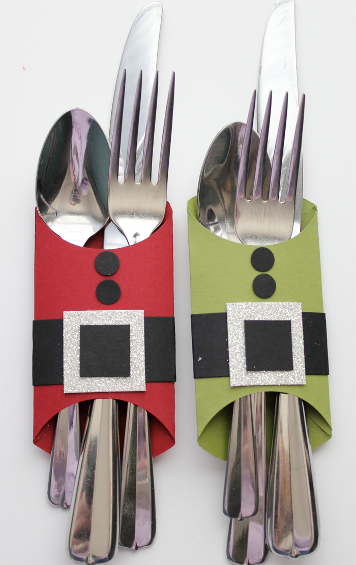 Utensil Holders for Christmas Dinner