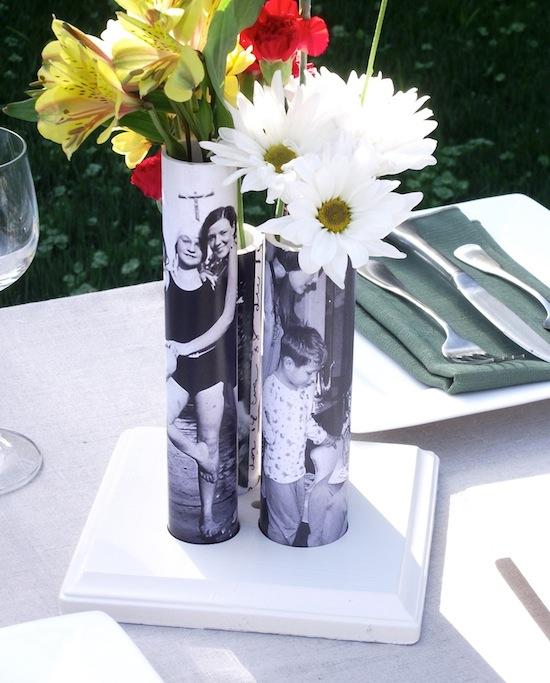 Vase from pvc pipe