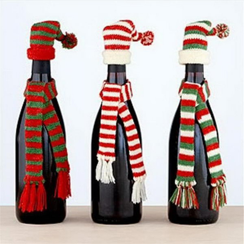 Bottle Christmas Decoration Unique 12 Amazing Wine Bottle Christmas Crafts Design Decoration