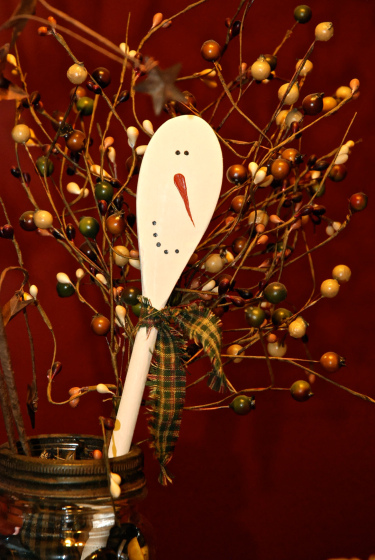 Wooden Snowman Spoons