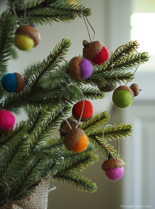 adorable felt acorn ornaments