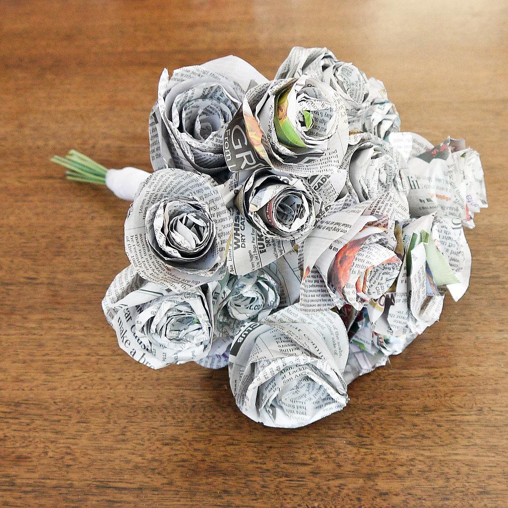 Как плести цветы, розы из газет своими руками 83
