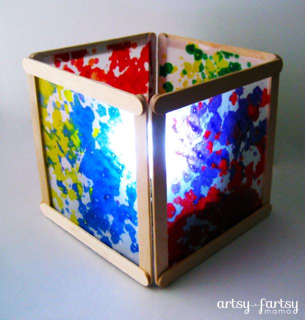 build this supercool wax paper lantern