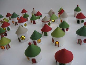 cardboard holiday village