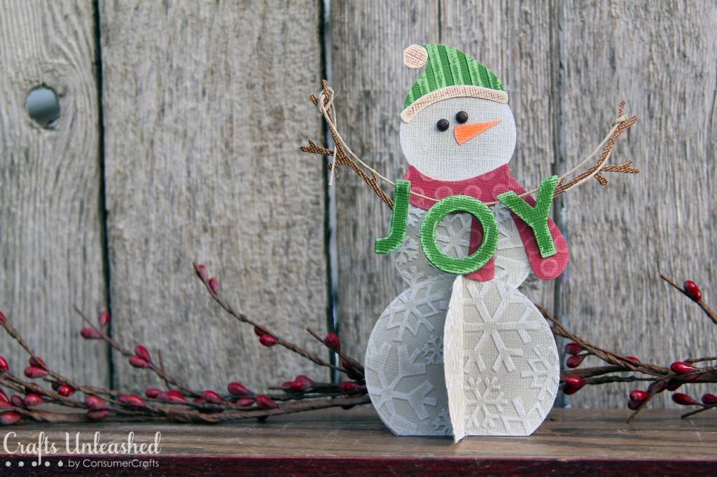 cardstock snowman