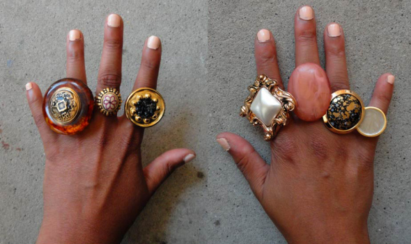 create beautiful statement rings