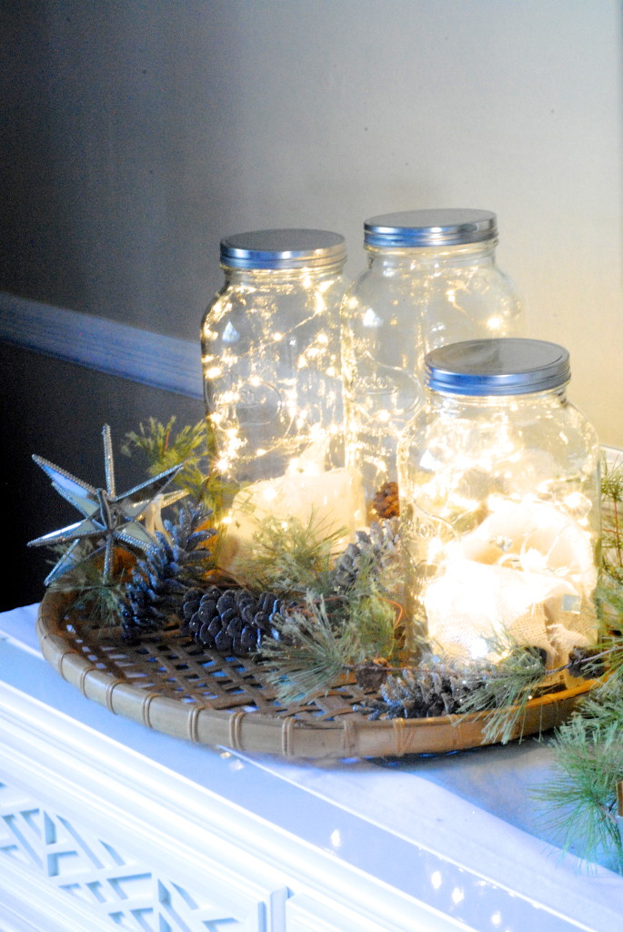fill a Mason jar with a bunch of string lights