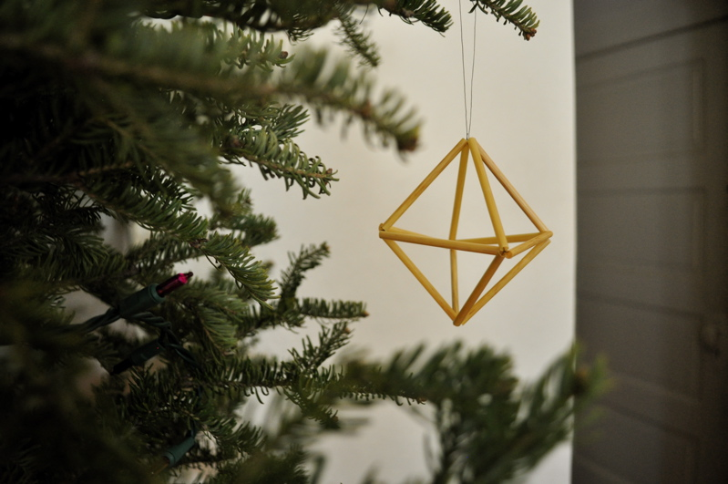 geometric straw ornament