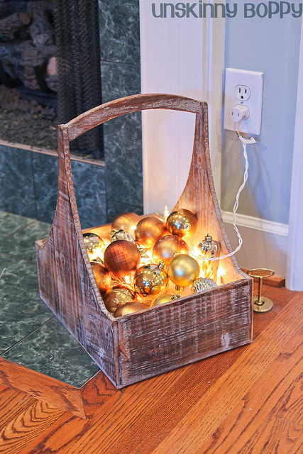 illuminated ornament basket