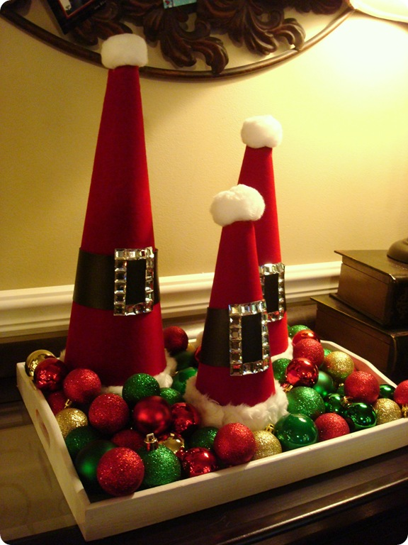 make Christmas trees out of Santa cones
